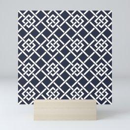 Yacht style pattern #5 Mini Art Print