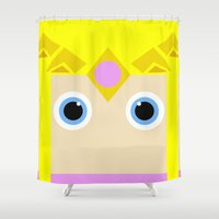 zelda Shower Curtains featuring Zelda by pipocaVFX