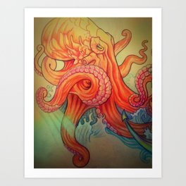 8 limbs of fire Art Print