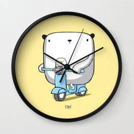 OPI Scooter Wall Clock