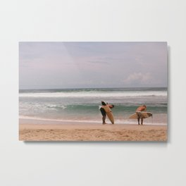 Costa Rica Big Wave Surf Metal Print