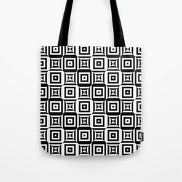 Op art pattern with checkered black white squares Tote Bag