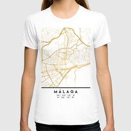 MALAGA SPAIN CITY STREET MAP ART T-shirt