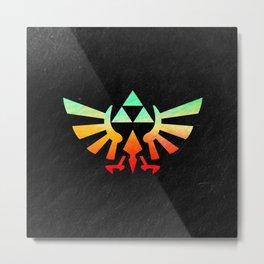 Zelda Hylian Crest Metal Print