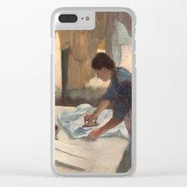 Edgar Degas, Woman Ironing, 1887 Clear iPhone Case