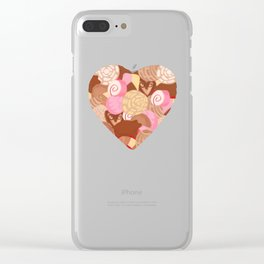 Corazón de Pan Dulce Clear iPhone Case