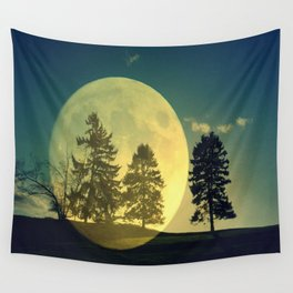 Landscape with trees Wall Tapestry