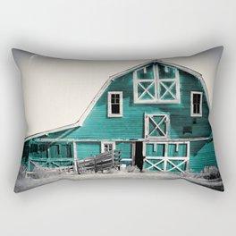 Luna Barn Teal Rectangular Pillow