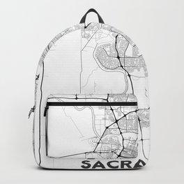 Minimal City Maps - Map Of Sacramento, California, United States Backpack