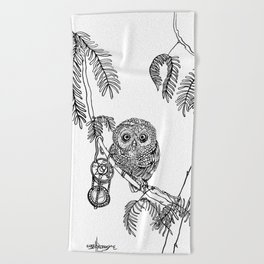 Owl Hour Beach Towel