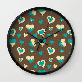 Baloon Heart Wall Clock