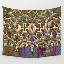Gothic tracery. Batalha Wall Tapestry