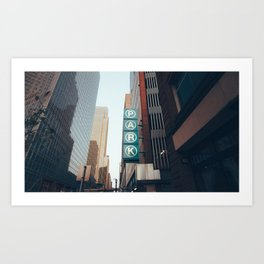 City Parking Art Print