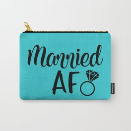 Married AF - Turquoise Carry-All Pouch