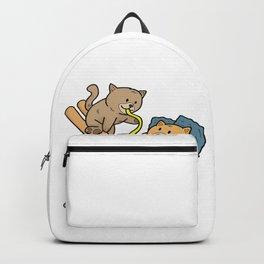 CAT RAMEN NOODLES CHOP STICK Kittens Present Backpack