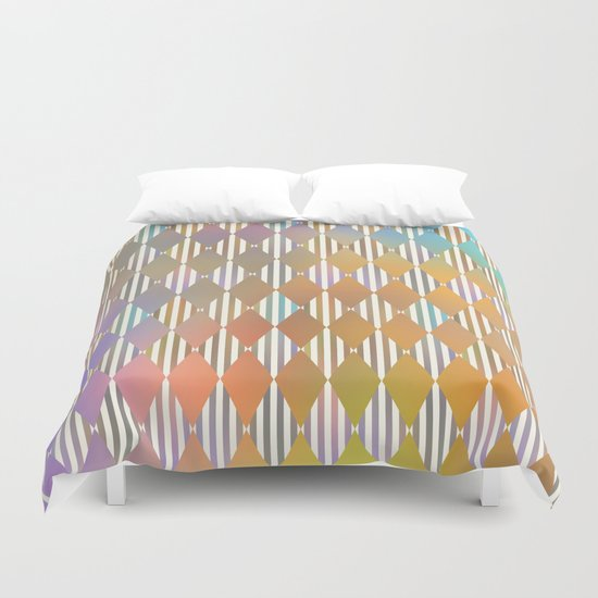 Diamond Pattern Duvet Cover