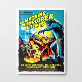 The Time Machine (French) Metal Print
