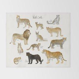 Wild Cats Throw Blanket