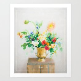 Light flowers Art Print