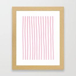PINK STRIPES Framed Art Print