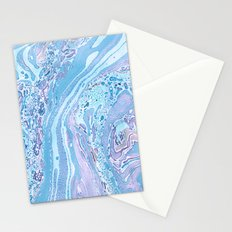Marble Pale Blue Stationery Cards