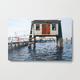 Office over the Water Metal Print