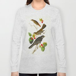 Little Tawny Thrush, Ptiliogony's Townsendi, Canada Jay Long Sleeve T-shirt