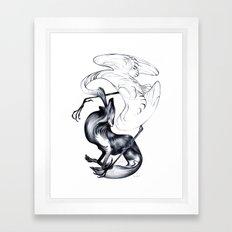 The Wolf & the Crane Framed Art Print