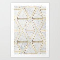 gOld rhombus Art Print