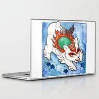 okami Laptop & iPad Skins featuring Amaterasu from Okami 04 by Jazmine Phillips