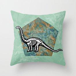 Brachiosaurus Fossil Throw Pillow