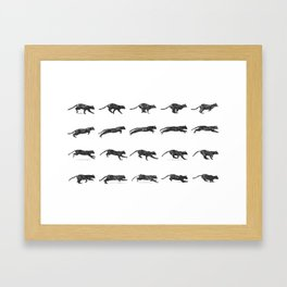 Cat Jump Framed Art Print