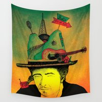 dylan Wall Tapestries featuring dylan by Mariana Beldi