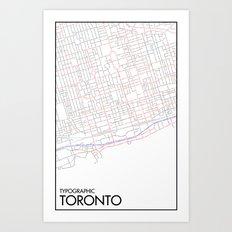 Typographic Toronto (Just Roads Version) Art Print