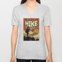 Hike Propaganda   Hiking Nature Outdoor Camping Unisex V-Neck