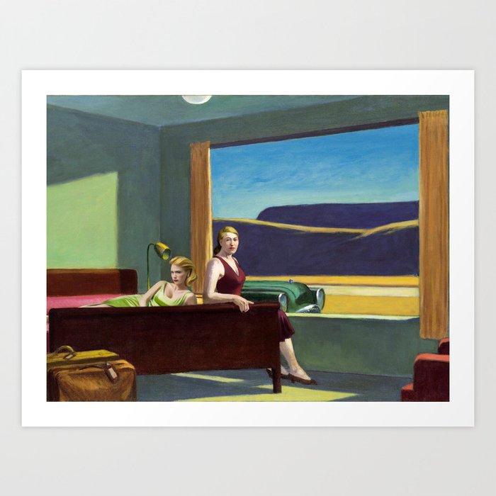 January Jones + Edward Hopper Art Print by Billetdoux.