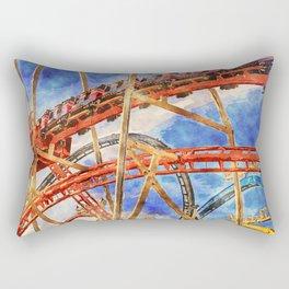 Fun on the roller coaster, close up Rectangular Pillow