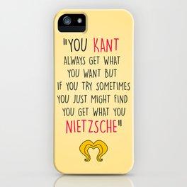 Hedwig, Kant & Nietzsche iPhone Case
