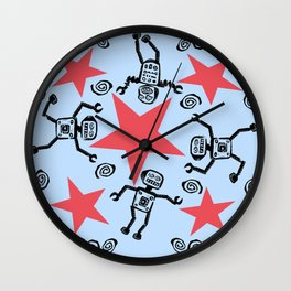 Dancing Robots Wall Clock