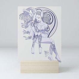 Cyber Lavender Mini Art Print