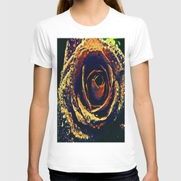 Rose with tears crossing T-shirt