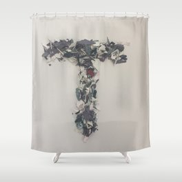 Letter T in Paint Shower Curtain
