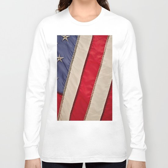 The flag of the United States of America Long Sleeve T-shirt