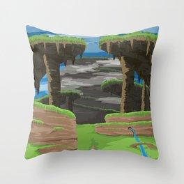 Gaur Plains (Xenoblade Chronicles) Travel Poster Throw Pillow