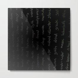 Story words Metal Print