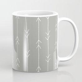 Grey, Fog: Arrows Pattern Coffee Mug