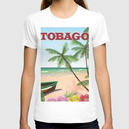 Tobago beach travel poster T-shirt