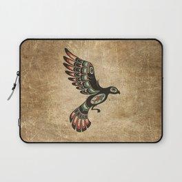 Red and Green Haida Spirit Flying Bird Laptop Sleeve