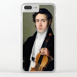 Portait of young Niccolò Paganini Clear iPhone Case