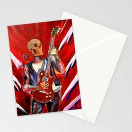 Fantasy art heavy metal skull guitarist Stationery Cards